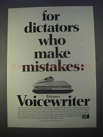 1966 Edison Voicewriter Ad - Dictators Make Mistakes