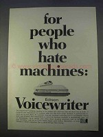 1966 Edison Voicewriter Ad - People Who Hate Machines