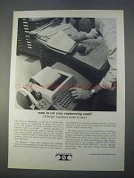 1966 Teletype Model 33 ASR Machine Ad - Cut Costs