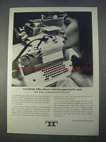 1966 Teletype Model 35 ASR Machine Ad - Reducing Costs
