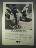 1966 Teletype Model 33 ASR Machine Ad - On Computer
