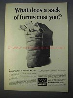 1966 Moore Business Forms Ad - A Sack of Forms Cost