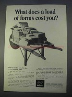 1966 Moore Business Forms Ad - A Load of Forms Cost