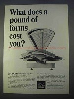 1966 Moore Business Forms Ad - A Pound of Forms Cost