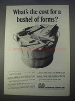 1966 Moore Business Forms Ad - Cost For a Bushel