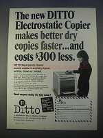 1966 Ditto Electrostatic Copier Ad - Better Dry Copies