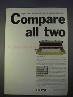 1966 Royal 660 Electric Typewriter Ad - Compare All Two