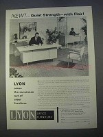 1966 Lyon Office Furniture Ad - Quiet Strength Flair