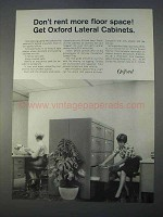 1966 Oxford Latereal Cabinet Ad, Don't Rent Floor Space