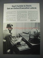 1966 Oxford Executive Lateral Filing Cabinet Ad