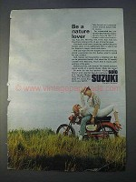 1966 Suzuki Motorcycle Ad - Be A Nature Lover