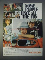 1966 Honda 65 Motorcycle Ad - Some Have All The Fun