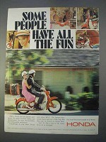 1966 Honda Motorcycle Ad - Some People Have All the Fun