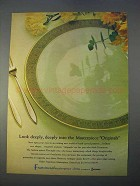 1966 Franciscan Masterpiece China Ad - Antique Green