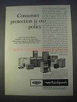 1966 Whirlpool Appliances Ad - Consumer Protection