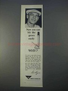 1966 Ben Hogan Sure-On Wedge Ad - Hit Green Easily