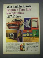 1966 Lysol Disinfectant Ad - Brighten Your Life