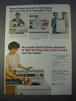1966 Tide Detergent Ad - Speed Queen Proved