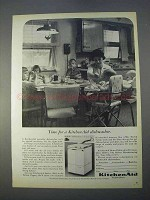 1966 KitchenAid Portable Dishwasher Ad - Time For
