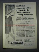 1966 Maytag Commercial Washers Ad - You Make a Go
