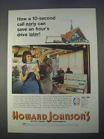 1966 Howard Johnson's Motor Lodges Ad - Call Early