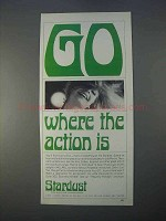 1966 Stardust Hotel Ad - Go Where the Action Is