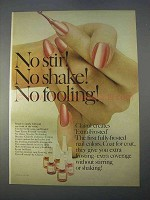 1966 Clairol Extra-Frosted Nail Color Ad - No Stir!