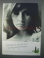 1966 Coty Emeraude Perfume Ad - Being More of a Woman