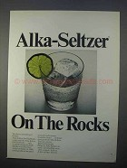1966 Alka-Seltzer Tablets Ad - On the Rocks