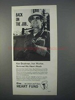 1966 Heart Fund Ad - Back on the Job