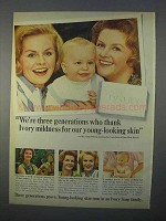 1966 Ivory Soap Ad - We're Three Generations Who Thank