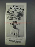 1966 Mennen Afta After Shave Ad - Scrapers Soother