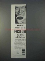 1966 Postum Drink Ad - Ask Your Doctor About