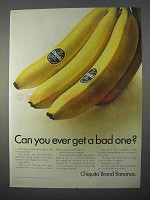 1966 Chiquita Bananas Ad - Can You Ever Get a Bad One?