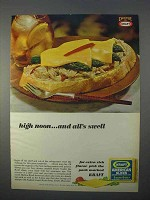 1966 Kraft American Slices Ad - High Noon All's Swell