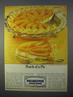 1966 Kraft Philadelphia Cream Cheese Ad - Peach of Pie