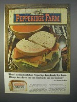 1966 Pepperidge Farm Family Rye Bread Ad - Has Flavor