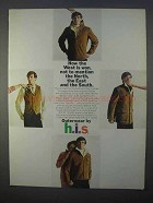 1966 h.i.s. Outerwear Ad - Western Vest; Wagon Master