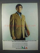 1966 h.i.s. Corduroy Sport Coat Ad - Wear to Class