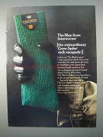 1966 Interwoven Crew-Sader Sock Ad - Estraordinary