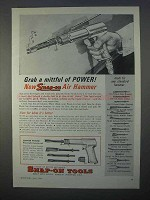 1966 Snap-On Tools Air Hammer Ad - Mittful of Power