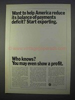 1966 U.S. Department of Commerce Ad - Start Exporting