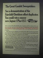1966 Fairchild-Davidson Offset Duplicator Ad - Jaguar