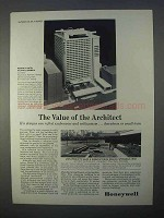 1966 Honeywell Controls Ad - Value of the Architect