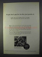 1966 Warner & Swasey Turret Lathe Ad - Vote for Sin