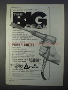 1966 Arvin Power Chizel Ad - The Big Deal