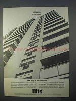 1966 Otis Elevator Ad - Live It Up in the Otisphere
