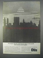 1966 Otis Elevator Ad - Largest Maintenance Force