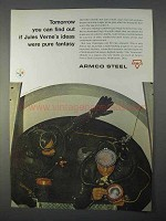 1966 Armco Steel Ad - If Jules Verne's Ideas Fantasy