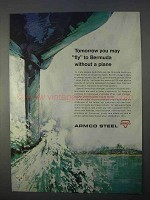 1966 Armco Steel Ad - Fly to Bermuda Without a Plane